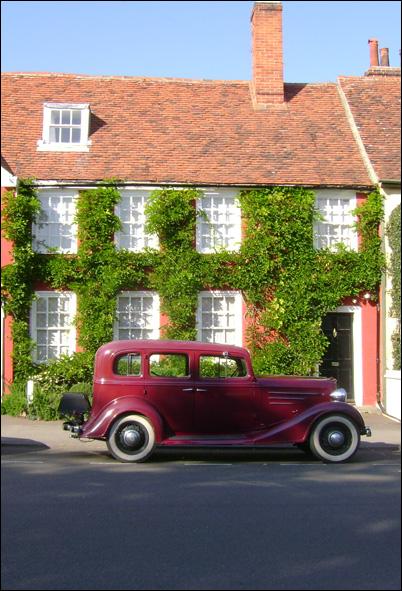 Old Car, Older House!