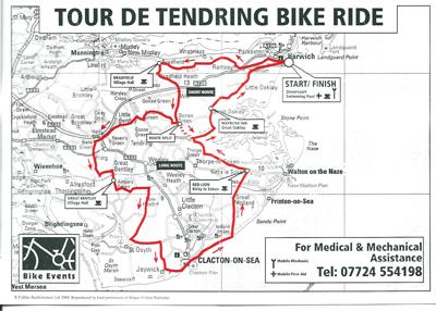 tour de tendring 2011 route map